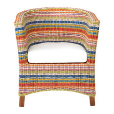 East at Main - East At Main's Highland Multi-Colored Rattan Occasional Chair - Armchairs and Accent Chairs