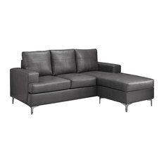 Contemporary Gray Sectional Sofas Houzz