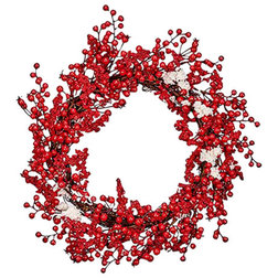 Contemporary Wreaths And Garlands by WORTH IMPORTS