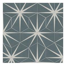 Lily Pad Hexagon Pattern Tiles, Slate, Set of 12
