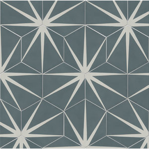 Lily Pad Hexagon Pattern Tiles, Slate, Set of 12