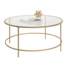 Delicieux Sauder   International Lux Round Coffee Table, Satin Gold   Coffee Tables
