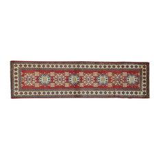 "Kazak Pure Wool Runner Hand Knotted Oriental Rug, 2'8""x10'1"""