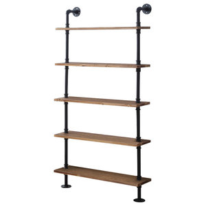 5-Shelf Piping in Black