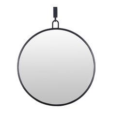 Stopwatch Round Mirror, Black