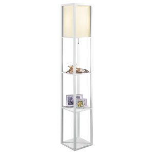 Cairo 63 75 Quot Led Integrated Floor Lamp Chrome