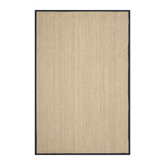 Winifred Natural Fibre Area Rug With Black Border, 180x275 cm