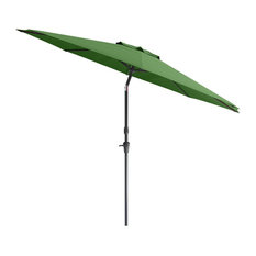 Wind Resistant Tilting Patio Umbrella in Forest Green