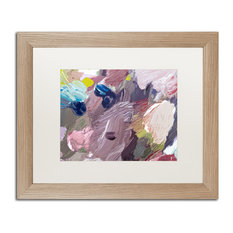 "David Lloyd Glover 'Cloud Patterns' Art, Birch Frame, 16""x20"", White Matte"