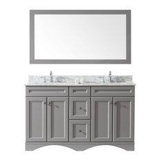 "Talisa 60"" Double Bathroom Vanity Set, Gray"