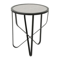 Great Deal Furniture Sophia Outdoor 11 Inch Grey Finish Ceramic Tile Side Table
