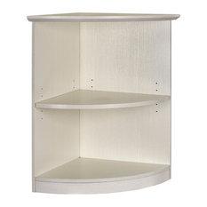 Mayline Medina 2 Shelf Quarter Round Bookcase In Textured Sea Salt MVBQ2TSS
