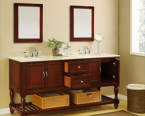 Vintage Double Bathroom Vanities j & j double sink vanities