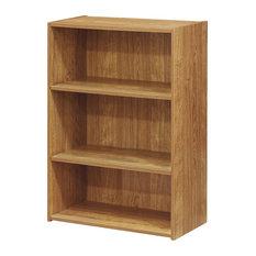 Wright 3-Shelf Bookcase Highland Oak