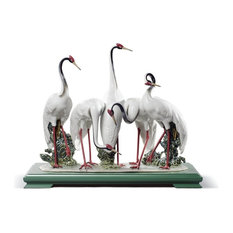 Lladro Flock Of Cranes Figurine