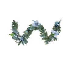 12 Pk Green PVC 9 Foot Canadian Pine Christmas Decoration Garland 430500