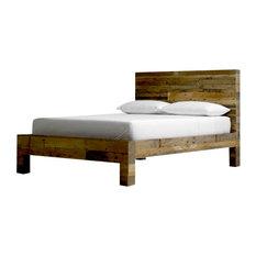 Reclaimed Wood Panel Bed Queen