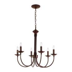 "Candle 24"" Chandelier, Rubbed Oil Bronze"