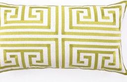 Trina Turk Lime Greek Key Embroidered Pillow
