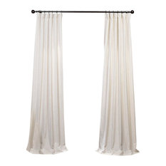 "Barley Heavy FauxLinen Curtain Single Panel, 50""x108"""
