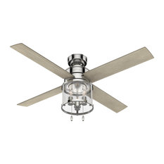 """Hunter 52"""" Astwood Polished Nickel Ceiling Fan With LED Light"""