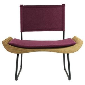 Organic Upholstered Armchair, Burgundy