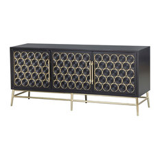 Wine Bottle Theme 3-Door Console