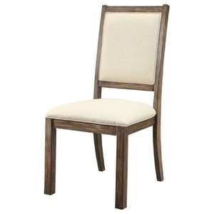 Furniture of America Lippin Dining Chair in Weathered Elm (Set of 2)