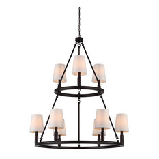 Feiss 9-Light Lismore Chandelier, Oil Rubbed Bronze