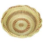 DNA Baskets - Deep Braided Edge Bread/Fruit Sweetgrass Basket - Deep Sweet grass bread/fruit basket