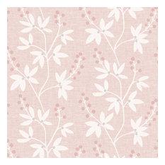 Currant Pink Botanical Trail Wallpaper Bolt