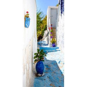 """""""Blue Alley"""" Photo Door Wallpaper, 100x210 Cm"""