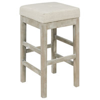 Valencia Backless Counter Stool Mystique Gray Legs, Canvas