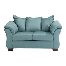 Ashley Darcy Fabric Loveseat in Sky