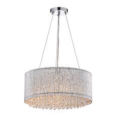 edvivi drumshade crystal chandelier pendant lighting - Drum Pendant Lighting