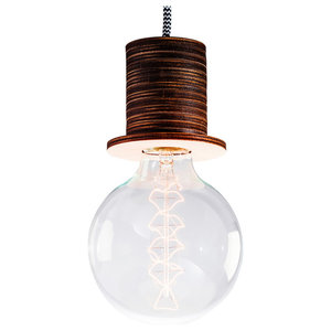 Fafoo Pendant Lamp, Dark Brown, Black and White