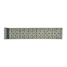 "2'6""x19'6"" Rajasthan Wool and Silk XL Runner Handmade Oriental Rug"