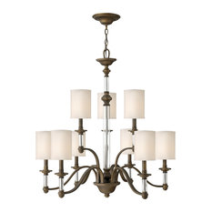 Hinkley Sussex Chandelier Large Two Tier, English Bronze