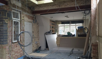 The new kitchen extension knocked through to an original room