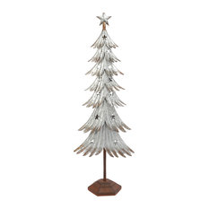 gerson company 39 inch galvanized metal holiday tree with stars christmas trees - Metal Christmas Decorations