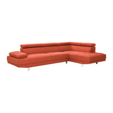 Milan Sectional, Orange