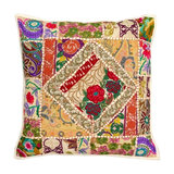 Boho Patchwork Cushion, Natural, Cover Only