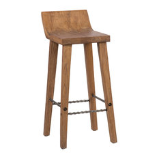 Reagan Low Back Stool, Bar Height by Kosas Home