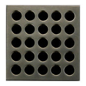 Ebbe Square Shower Drain Grates PVD, Antique Pewter