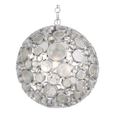 Fascination 3-Light Orb Pendant, Nevada and Clear