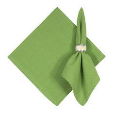 "Hand Woven 100% Cotton Solid Citrus Green 22""x22"" Napkins, Set of 6, Citrus"