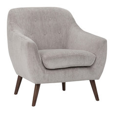 Brennley Armchair With Dove Grey Chenille-Effect Upholstery