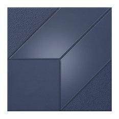 Iso Cube White Porcelain Tile, 12x12 Matte