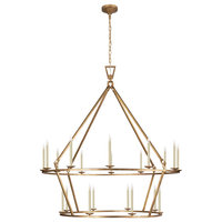 Darlana Extra Large Two-Tier Chandelier, Gilded Iron