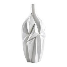 Cyan Large Glacier Vase 05001, Gloss White Glaze